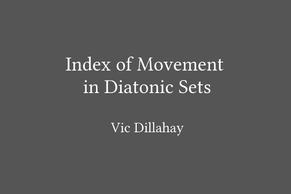 Index of Movement Cover